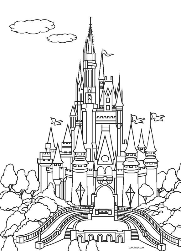 Disney Castle Coloring Pages  Free Printable Cinderella Coloring Pages For Kids