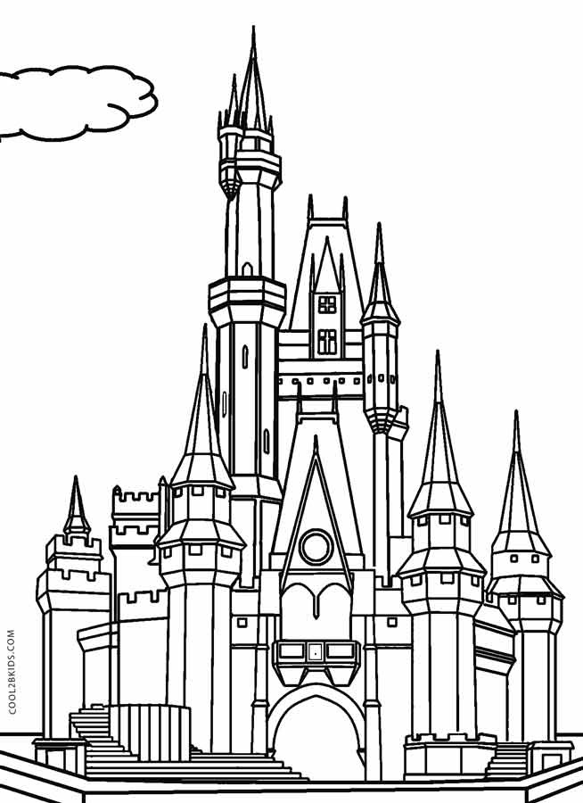 Disney Castle Coloring Pages  Printable Castle Coloring Pages For Kids