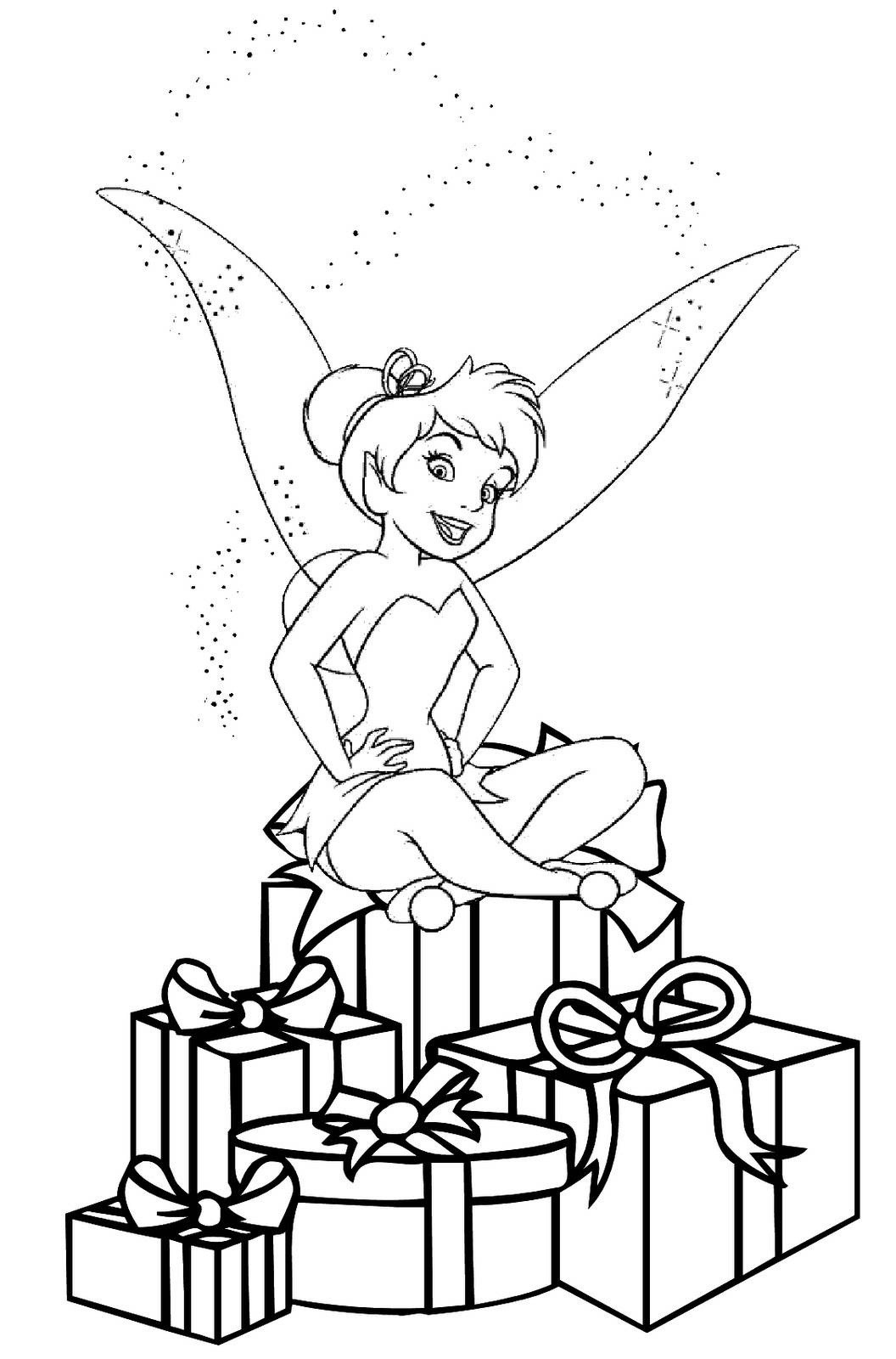 Disney Christmas Coloring Pages For Girls  Free Printable Tinkerbell Coloring Pages For Kids