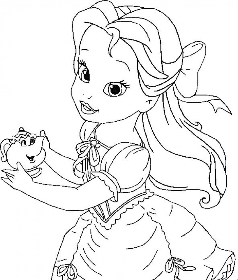 Disney Christmas Coloring Pages For Girls  Get This Belle Coloring Pages Printable