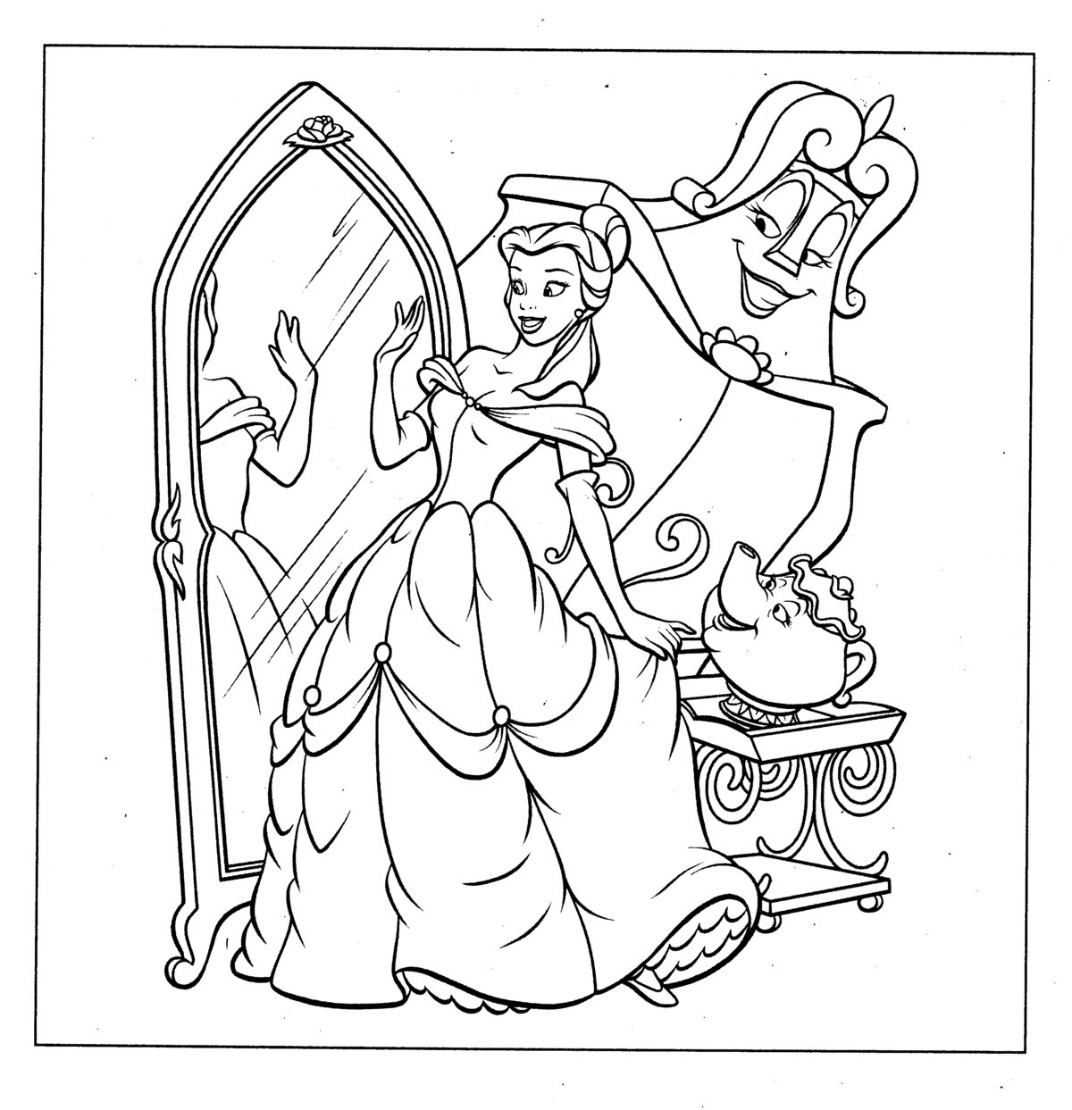 Disney Coloring Books  Free Printable Disney Princess Coloring Pages For Kids