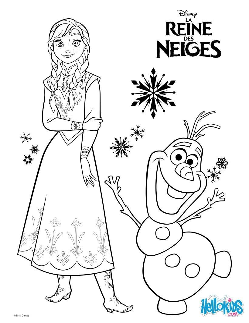 Disney Frozen Coloring Pages  disney frozen olaf coloring pages
