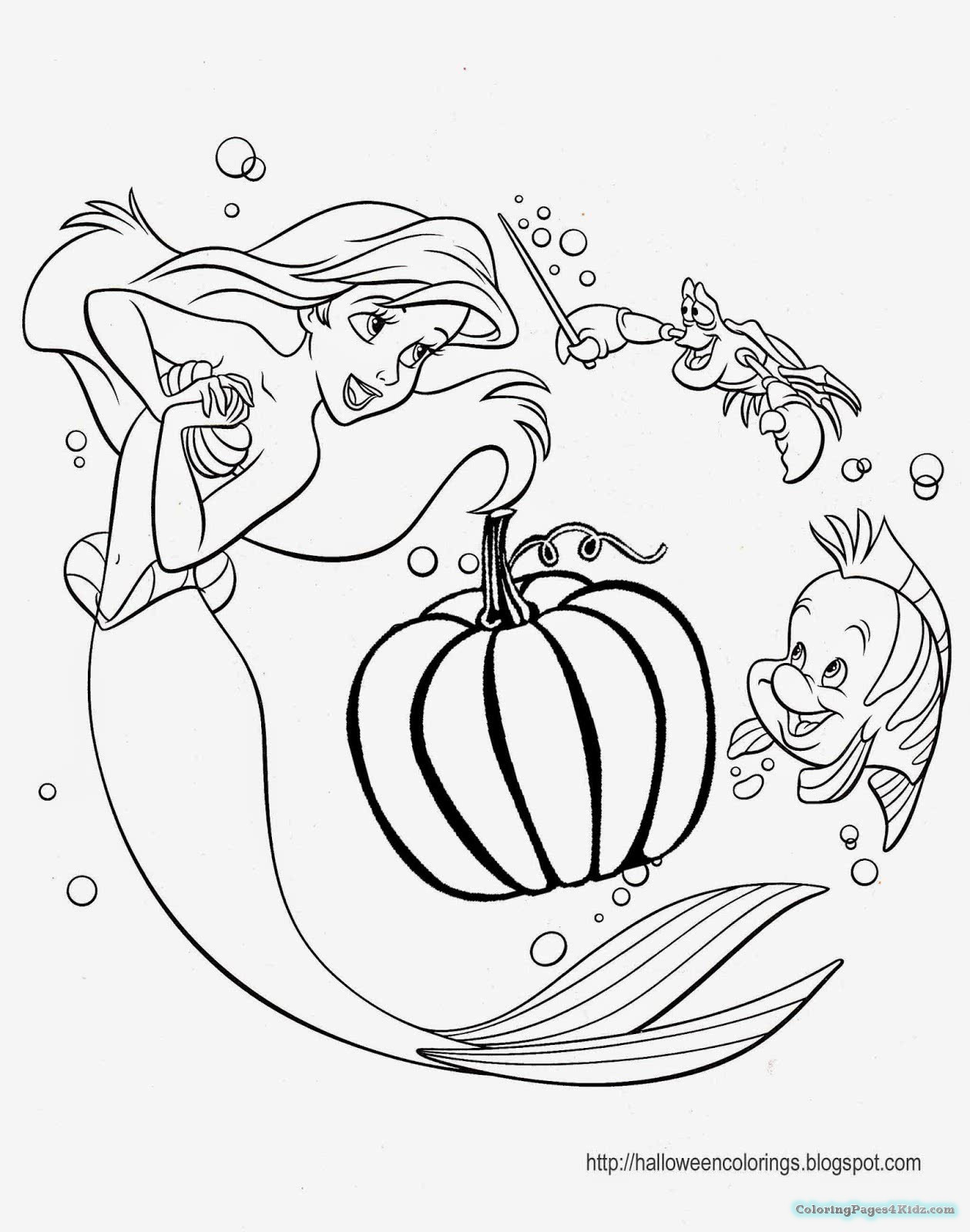 Disney Halloween Coloring Pages For Kids  Disney Princess Halloween Coloring Pages