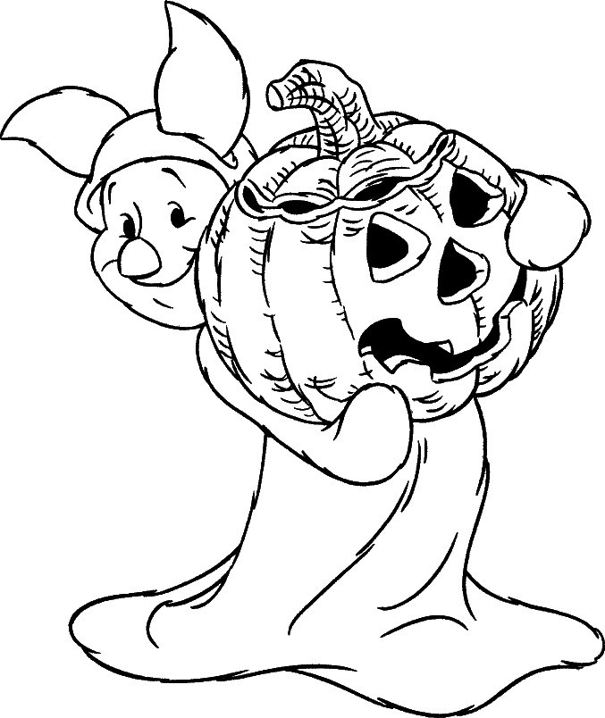 Disney Halloween Coloring Pages For Kids  24 Free Printable Halloween Coloring Pages for Kids