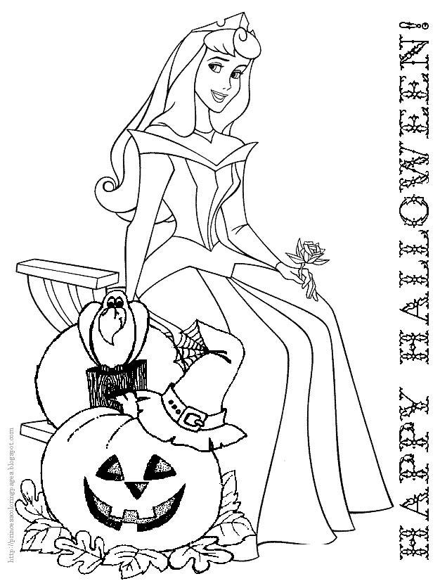 Disney Halloween Coloring Pages For Kids  Cute Halloween Coloring Pages Coloring Home