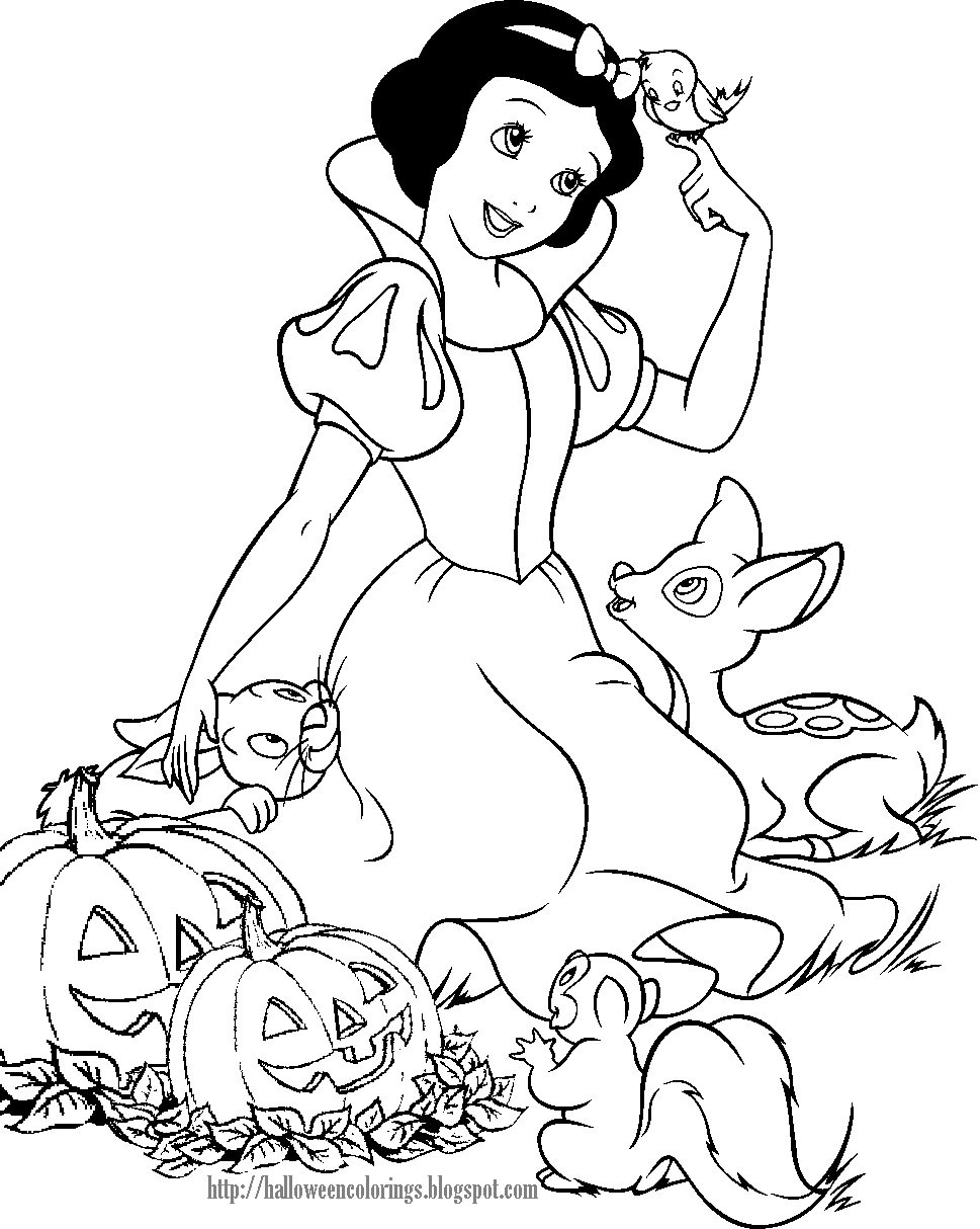 Disney Halloween Coloring Pages For Kids  DISNEY COLORING PAGES