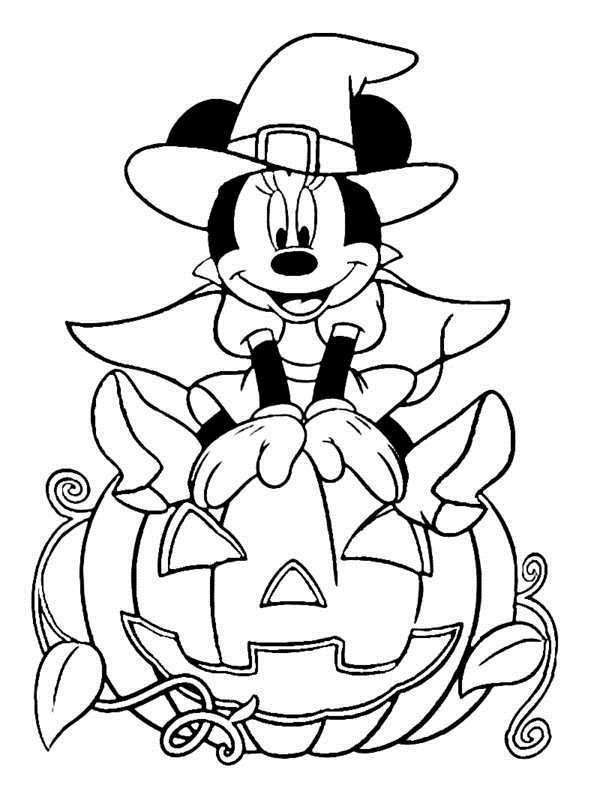 Disney Halloween Coloring Pages For Kids  Free Printable Halloween Disney Coloring Pages For Kids