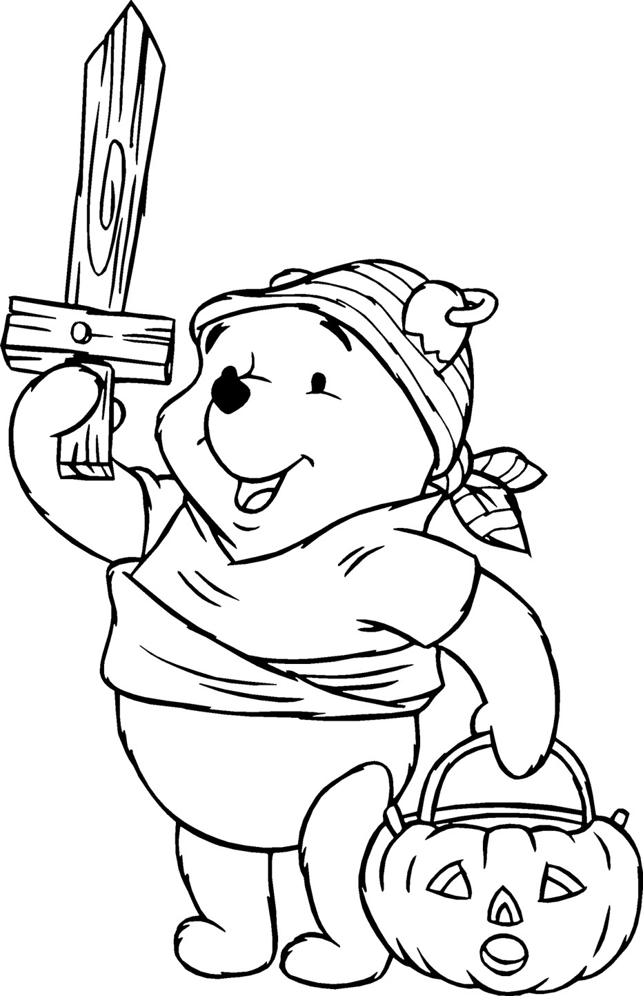 Disney Halloween Coloring Pages For Kids  Pooh Halloween Coloring Pages Disney Coloring Pages