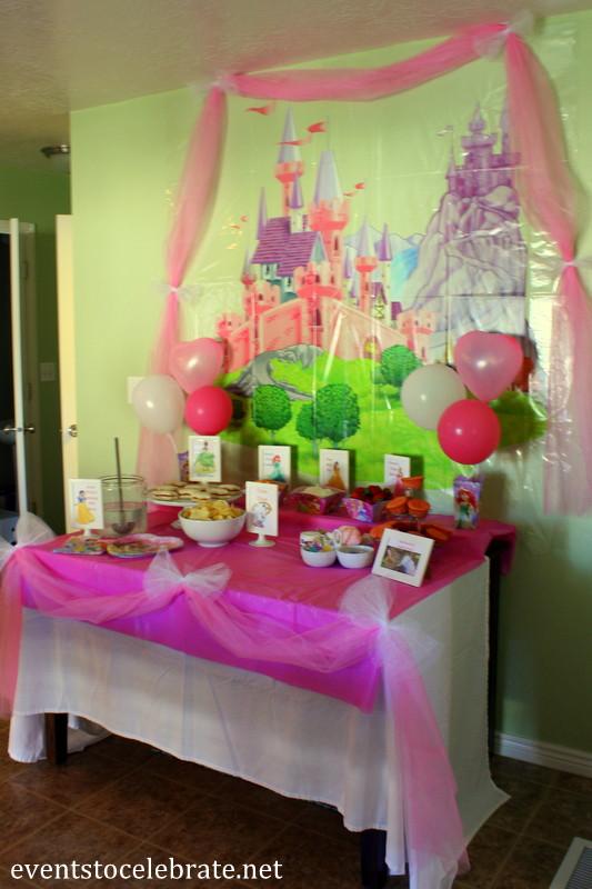 Disney Princess Birthday Decorations Party Ideas Food