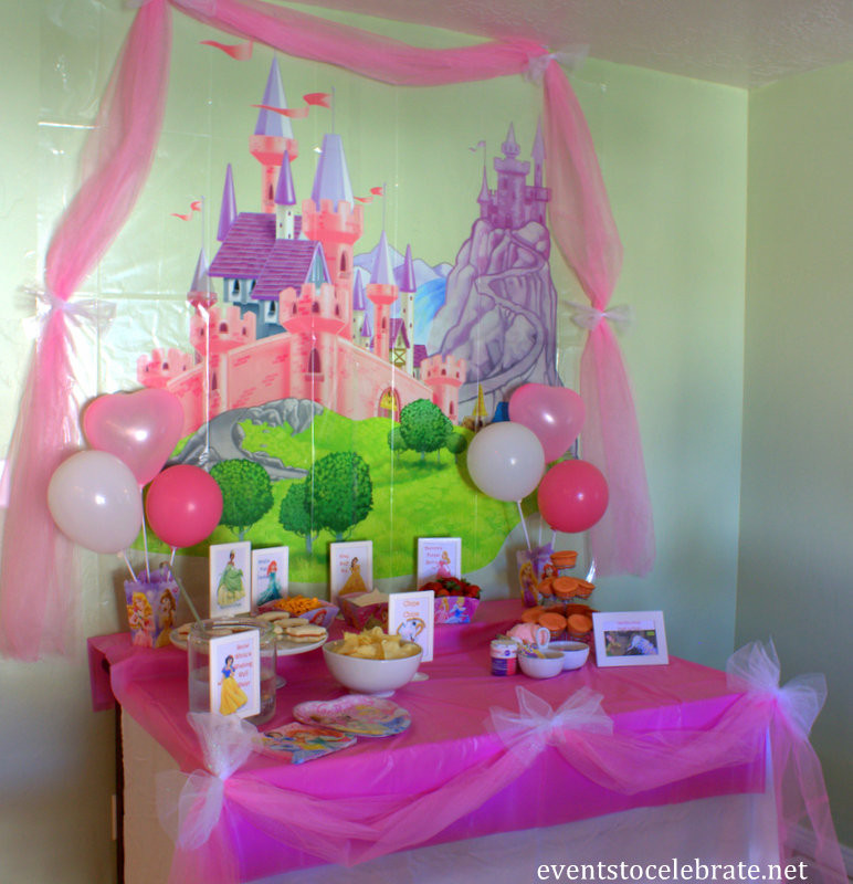 Disney Princess Birthday Decorations Party Ideas Food