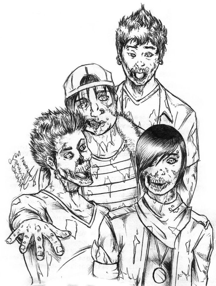 Disney Zombies Coloring Pages  1000 images about Zombie coloring on Pinterest
