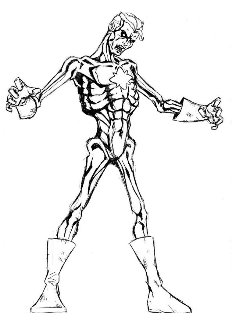 Disney Zombies Coloring Pages  Disney Zombie Coloring Pages grig3