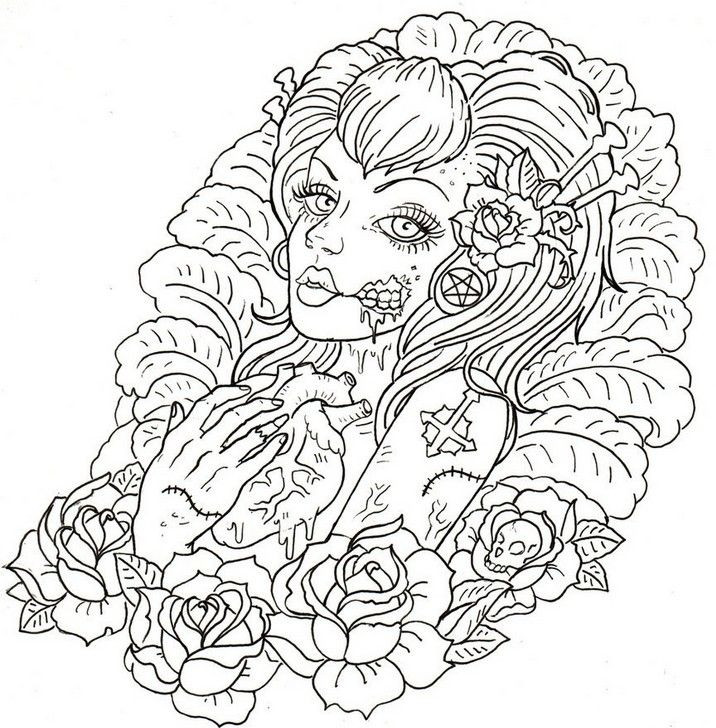 Disney Zombies Coloring Pages  Coloring Pages For Girls To Print Out Zombies Movies