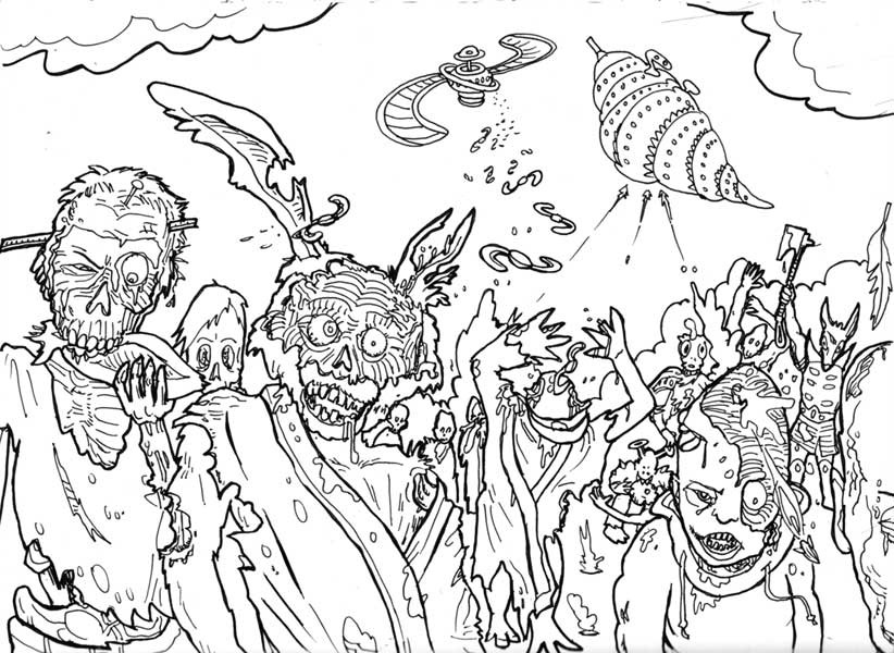 Disney Zombies Coloring Pages  Free Printable Zombies Coloring Pages For Kids