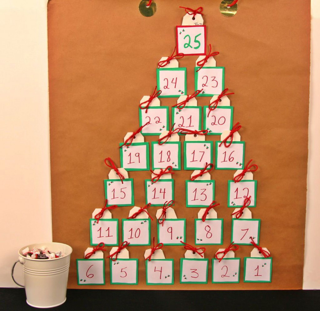 DIY Advent Calendar For Kids  Homemade Advent Calendar Kraft Paper & Candy