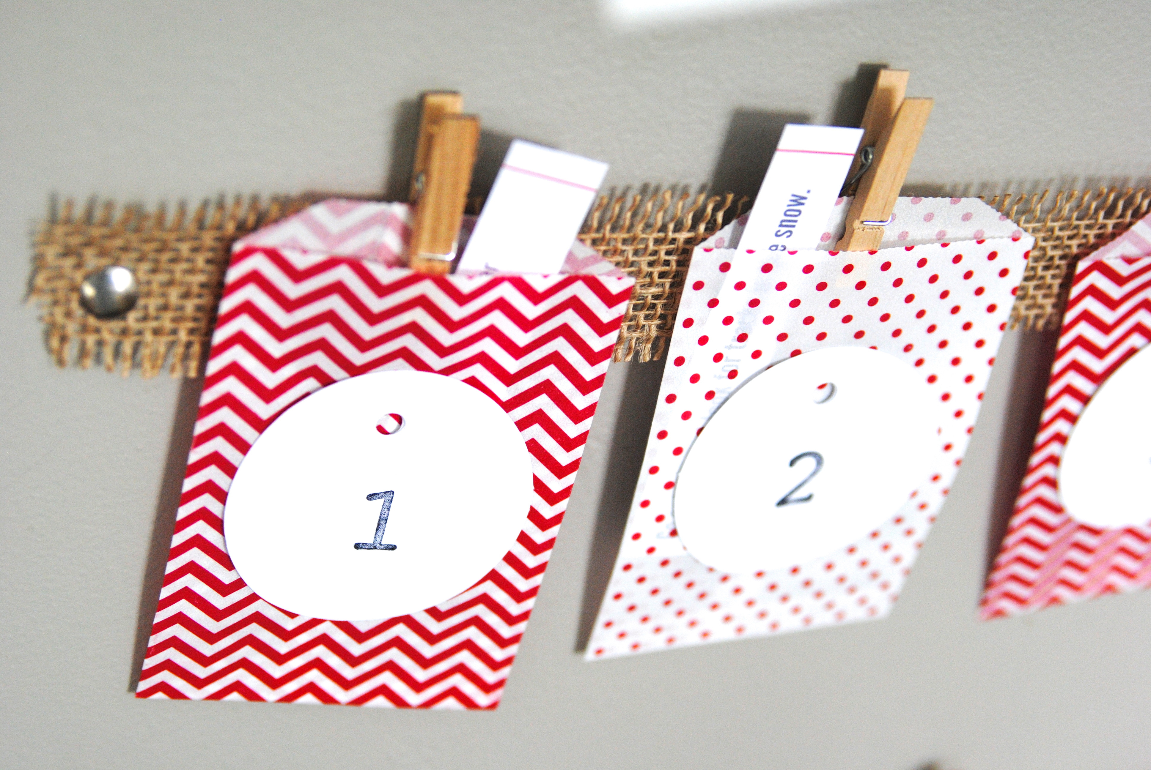 DIY Advent Calendar For Kids  Easy Christmas Advent Calendar Kids Craft Idea
