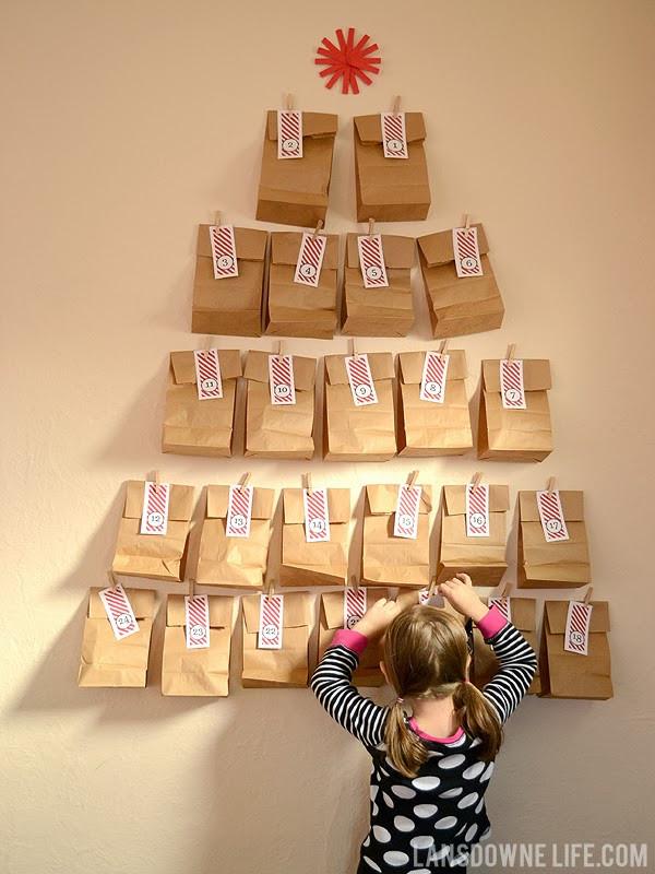 DIY Advent Calendar For Kids  Last minute DIY advent calendar FREE printable number
