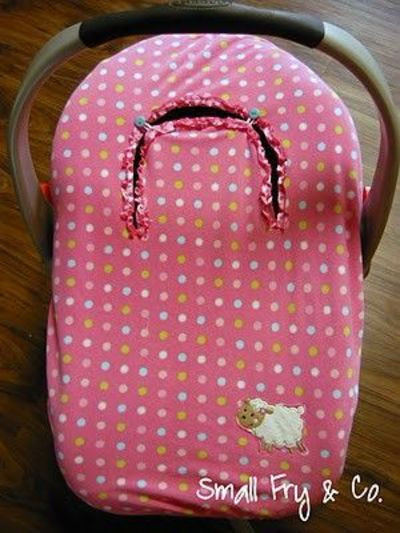 Best ideas about DIY Baby Car Seat Cover . Save or Pin DIY fleece & elastic car seat cover baby time Juxtapost Now.
