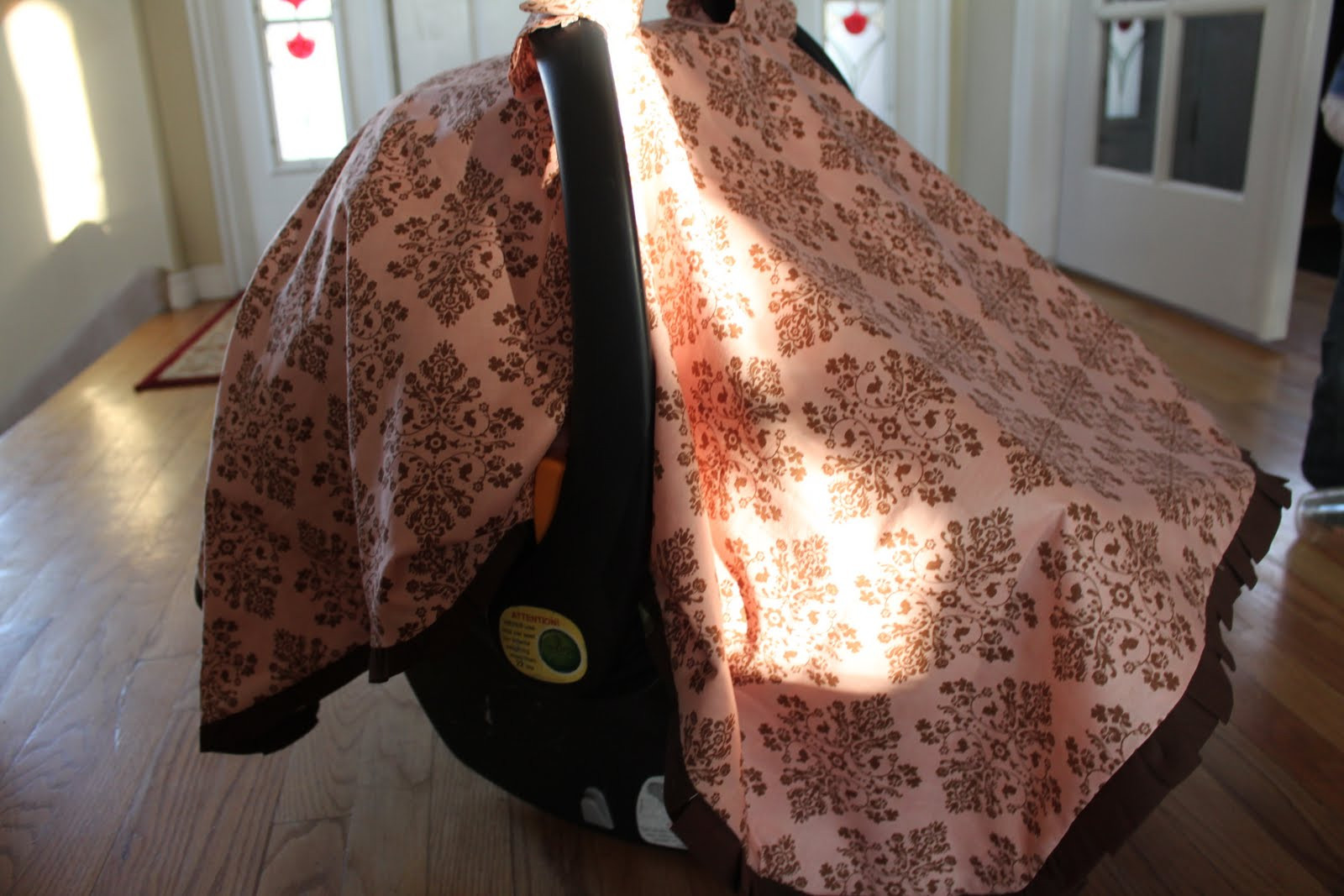 Best ideas about DIY Baby Car Seat Cover . Save or Pin do it yourself divas DIY Baby Car Seat Tent Cover Canopy Now.