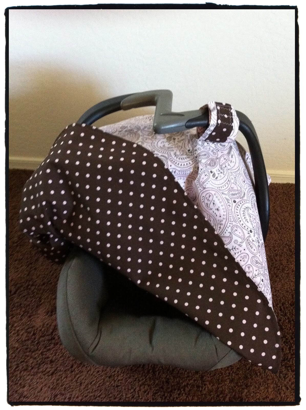 DIY Baby Car Seat Covers  Mo Momma Sewing DIY Car Seat Cover Canopy Tutorial
