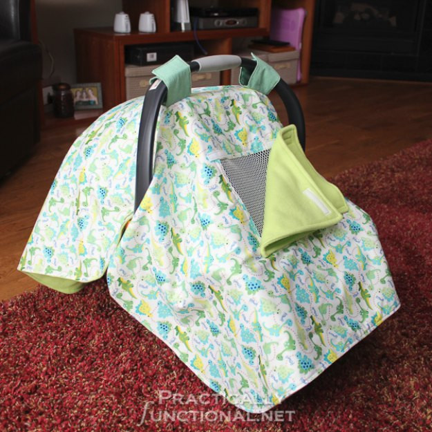 DIY Baby Car Seat Covers  42 Fabulous DIY Baby Shower Gifts
