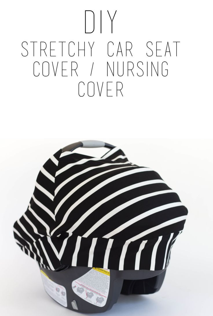 DIY Baby Car Seat Covers  do it yourself divas DIY Stretchy Car Seat Cover