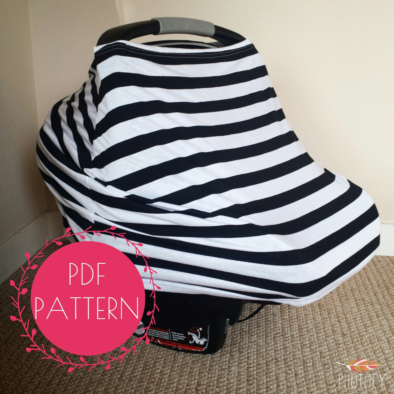DIY Baby Car Seat Covers  Car Seat Cover Nursing Cover Sewing Pattern DIY Stretchy Baby