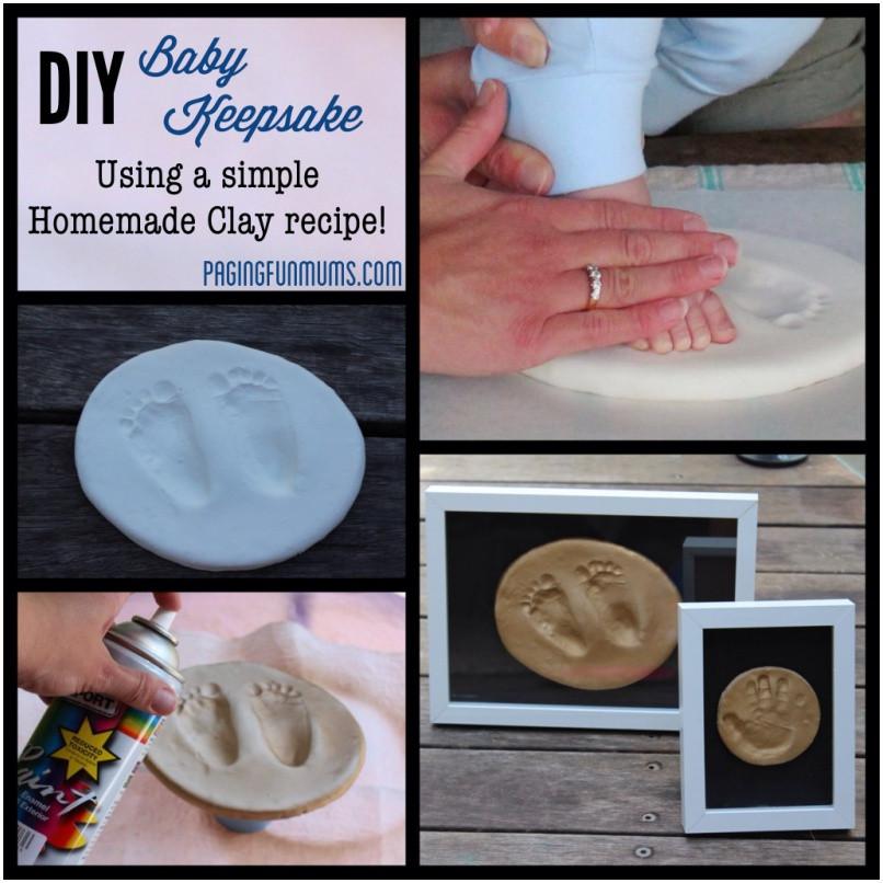 Best ideas about DIY Baby Footprint . Save or Pin 9 Cute DIY Footprint Keepsake Ideas and Tutorial Page 2 Now.