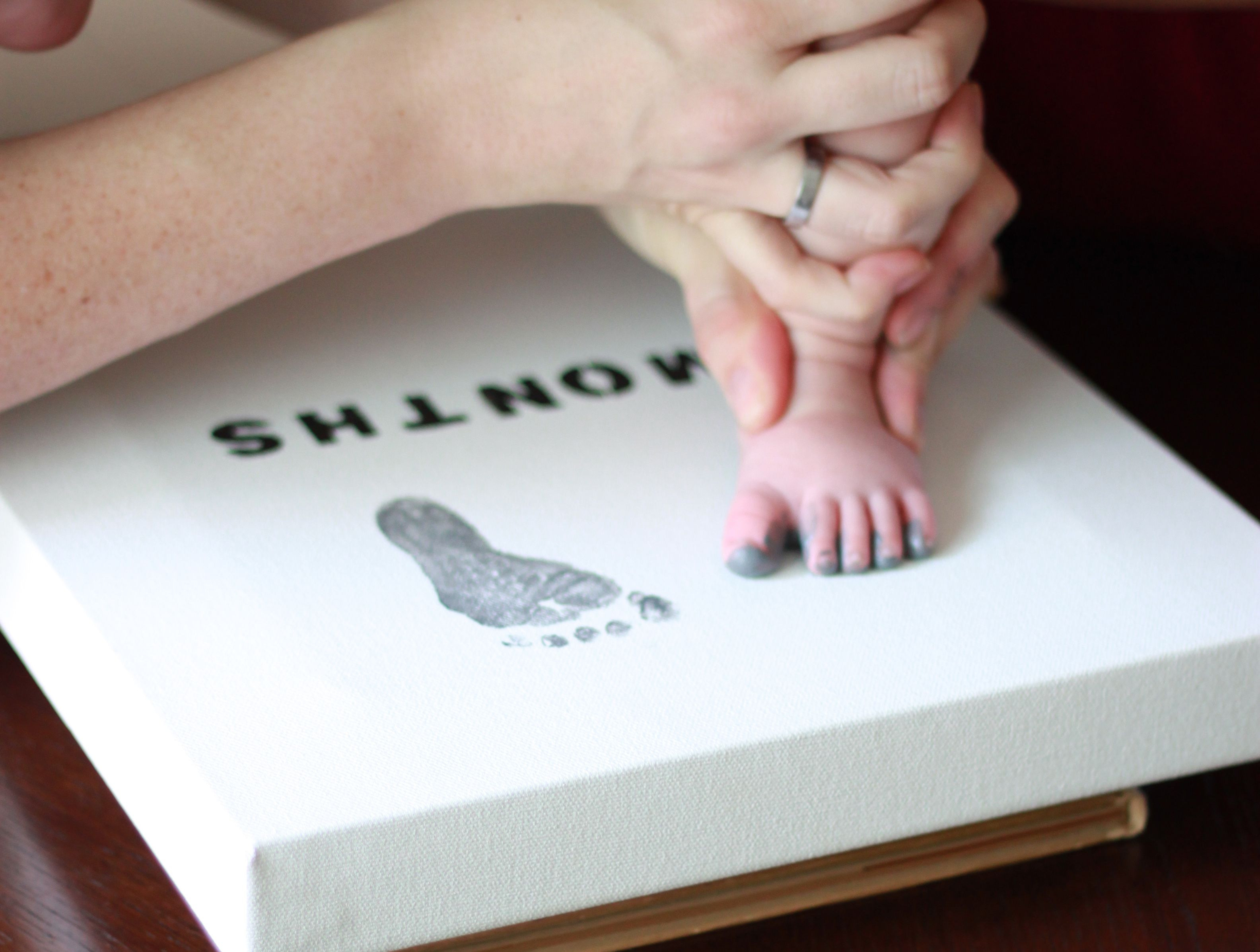 Best ideas about DIY Baby Footprint . Save or Pin canvas foot prints DIY Crafty Pinterest Now.