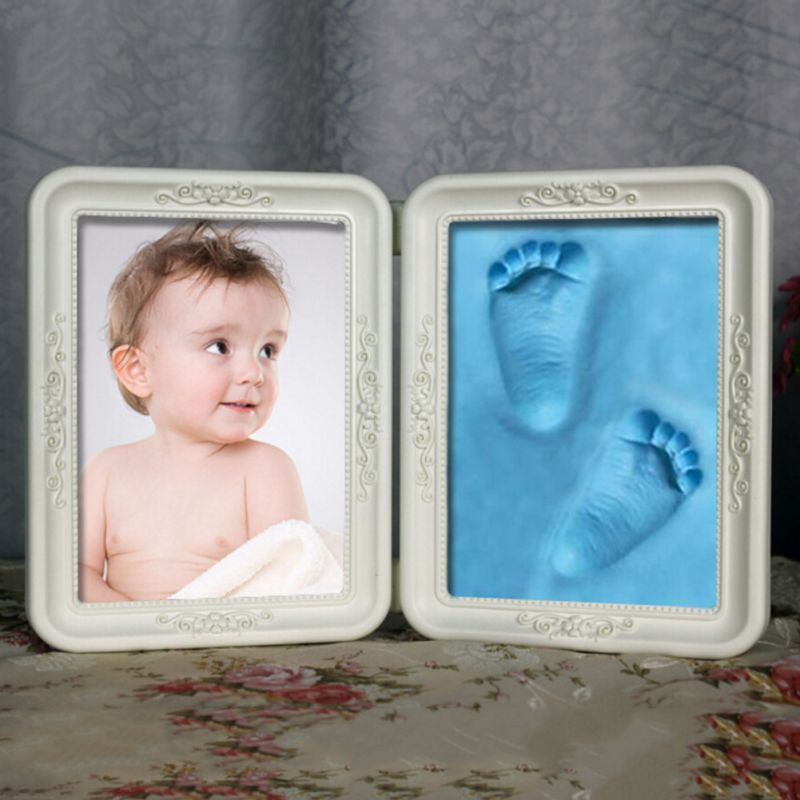 Best ideas about DIY Baby Footprint . Save or Pin Cute Exquisite Frame Soft Imprint Clay DIY Baby Now.