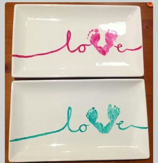 Best ideas about DIY Baby Footprint . Save or Pin Baby footprint plates Diy Pinterest Now.