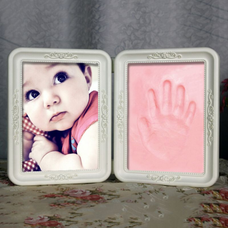 Best ideas about DIY Baby Footprint . Save or Pin Exquisite Frame Soft Imprint Clay DIY Baby Footprint Now.