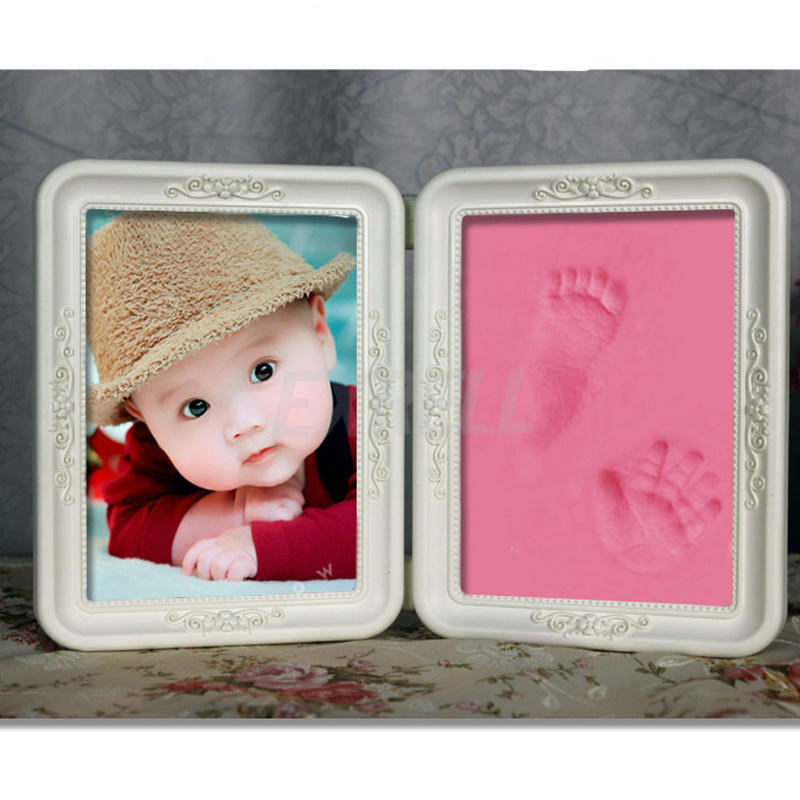 Best ideas about DIY Baby Footprint . Save or Pin Cute Frame Soft Clay Imprint DIY Baby Footprint Hand Now.