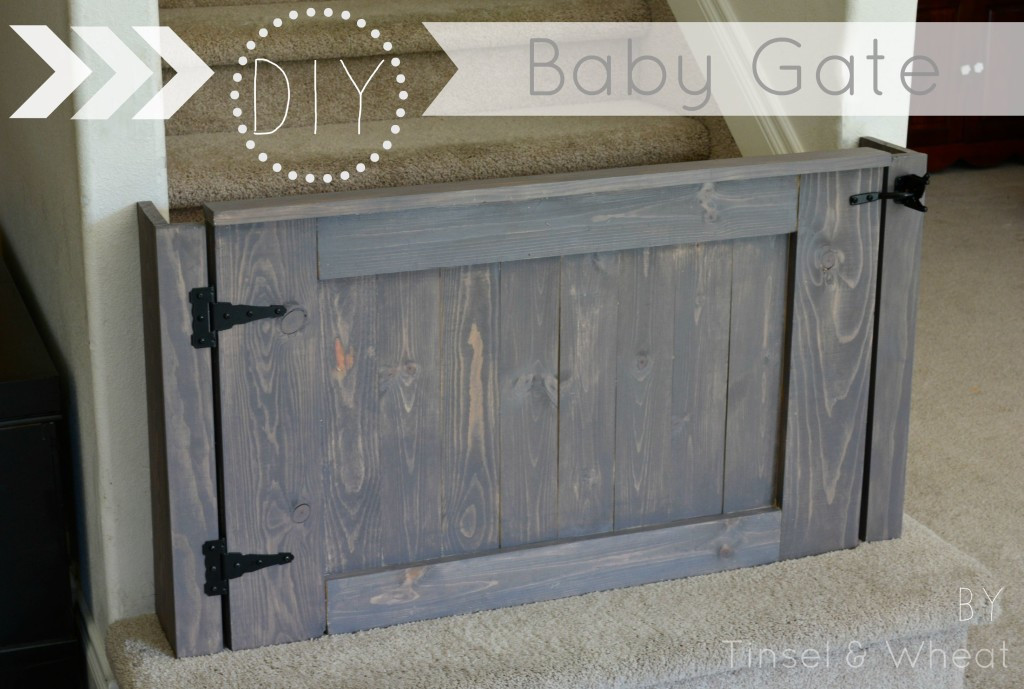 Best ideas about DIY Baby Gate Plans . Save or Pin How to Build a Baby Gate DIY Baby Gate Plans Tinsel Now.