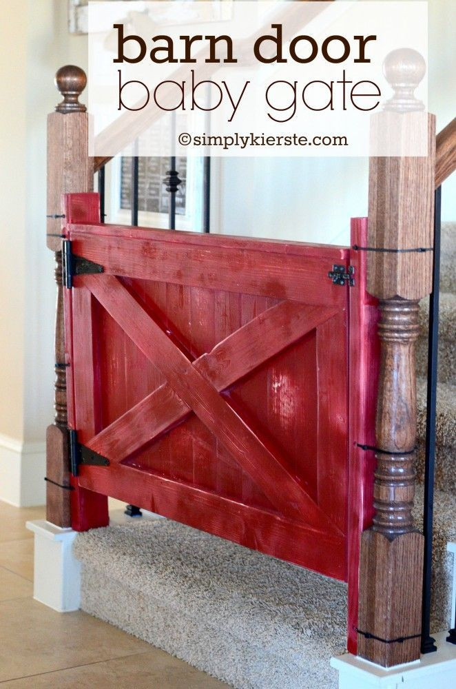 Best ideas about DIY Baby Gate Plans . Save or Pin Barn Door Baby Gate Now.