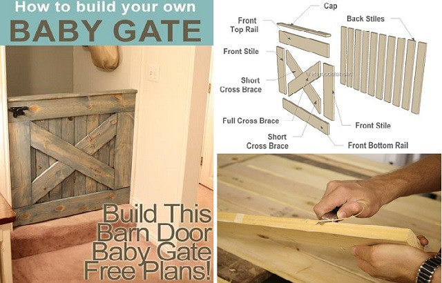 Best ideas about DIY Baby Gate Plans . Save or Pin DIY Barn Door Baby Gate – Free Plans Now.