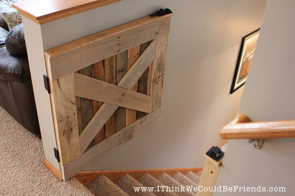 Best ideas about DIY Baby Gate Plans . Save or Pin DIY Palette Wood Baby & Pet Gate Now.