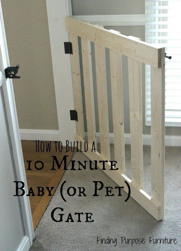Best ideas about DIY Baby Gate Plans . Save or Pin 10 Minute DIY Baby Pet Gate Now.