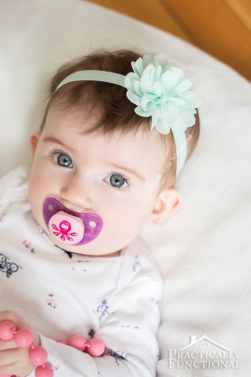 DIY Baby Headbands  DIY No Sew Baby Flower Headbands