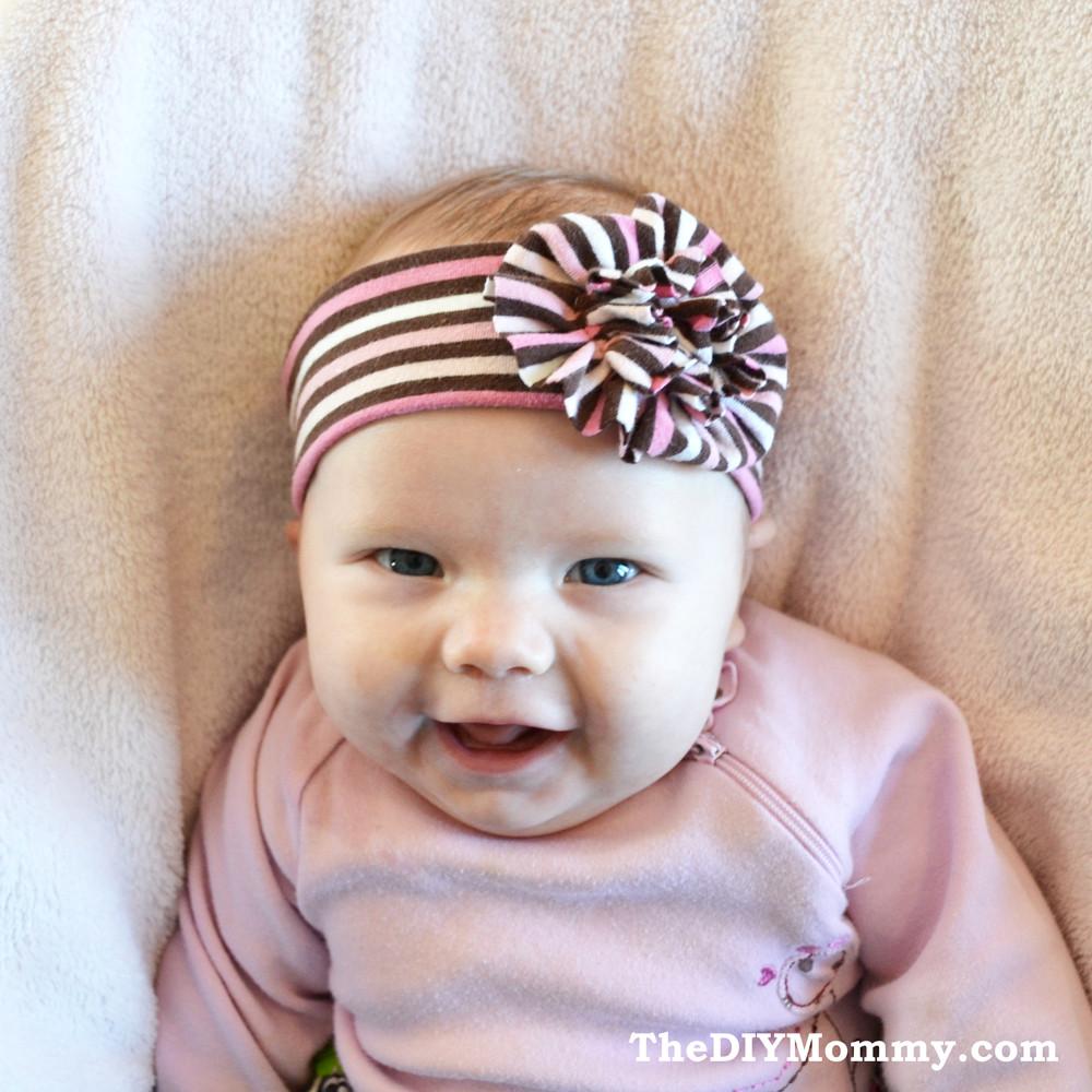 DIY Baby Headbands  Sew an Upcycled Baby Headband
