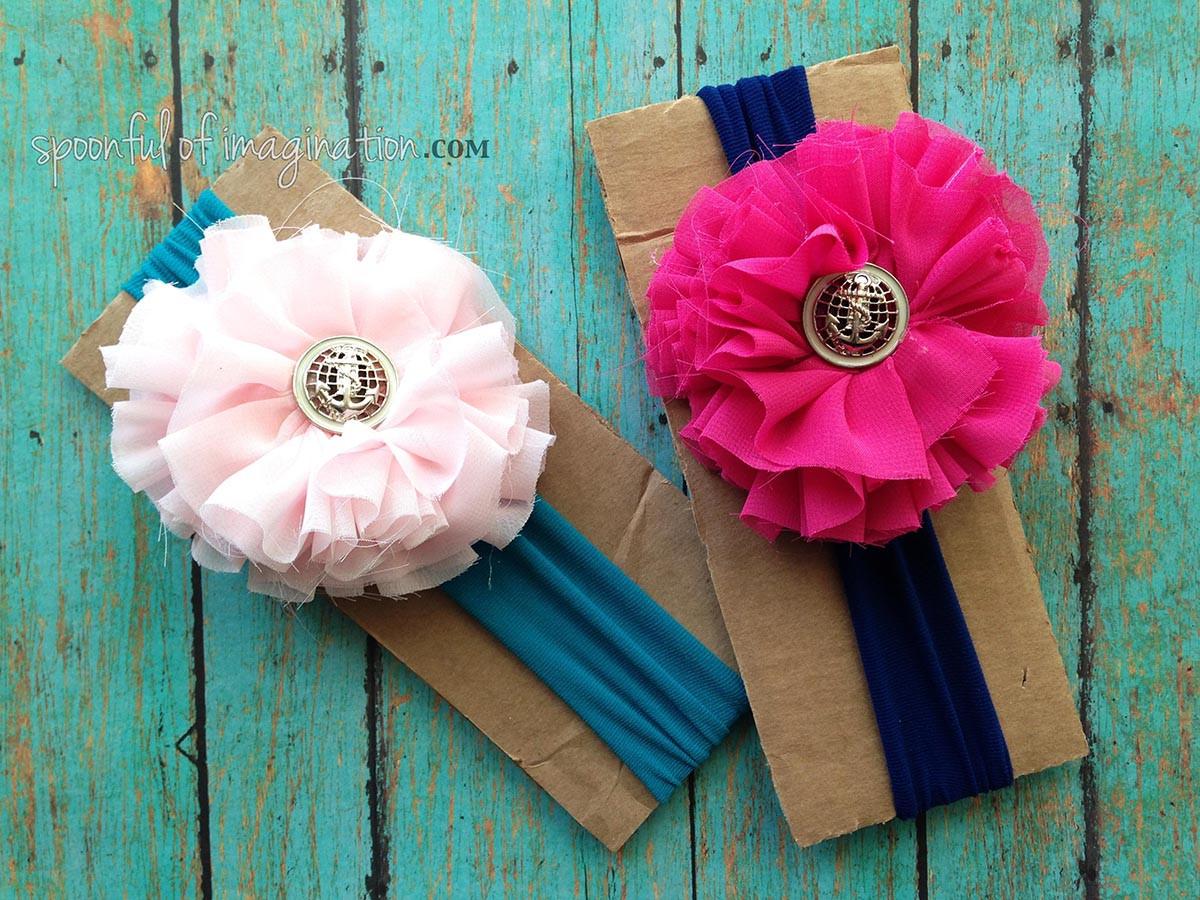 DIY Baby Headbands  Chiffon Flower Tutorial Spoonful of Imagination