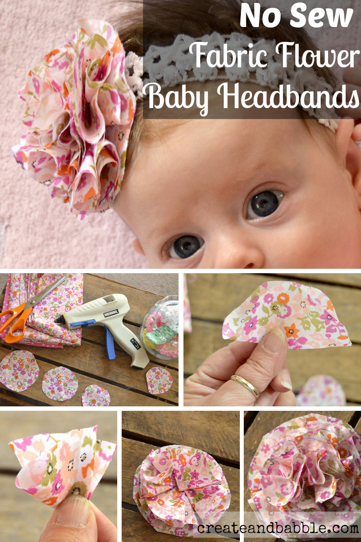 DIY Baby Headbands  Fabric Flower Baby Headbands Create and Babble
