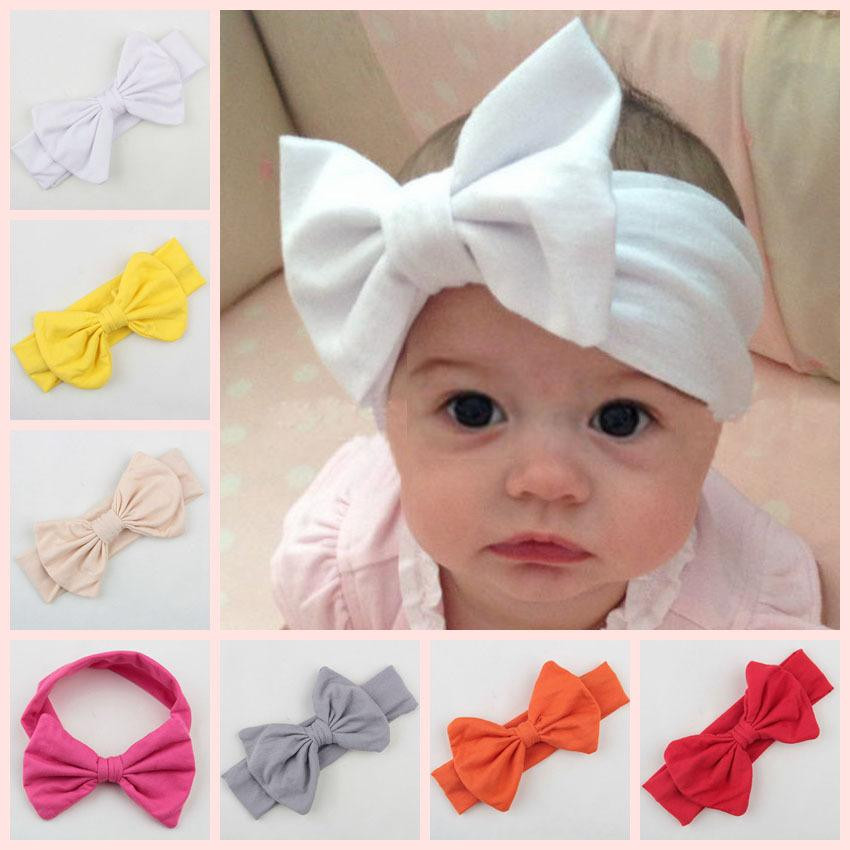 DIY Baby Headbands  Baby Infant Christmas Bow Headbands Girl Cotton Headband