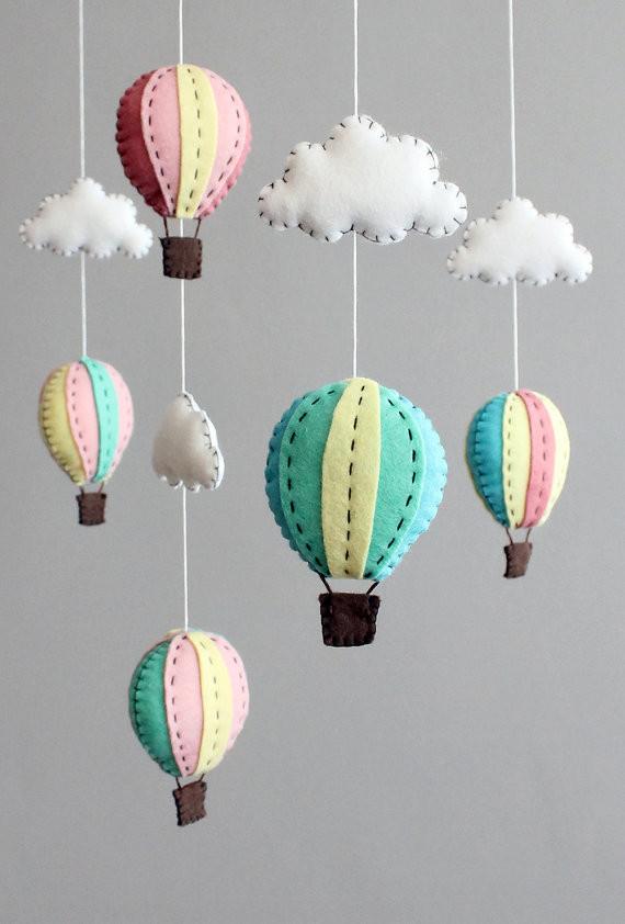 DIY Baby Mobile Kits  diy baby mobile kit make your own hot air balloon cot