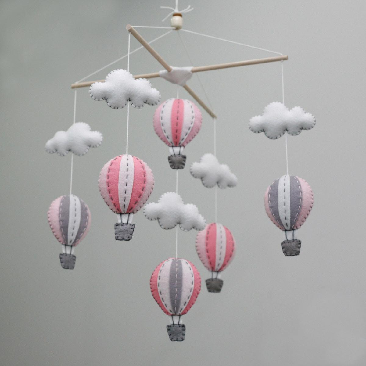 DIY Baby Mobile Kits  Cheap Hot Air Balloons Girl Baby Mobile DIY Kit Pink for