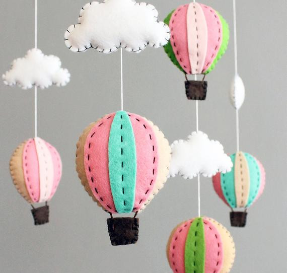 DIY Baby Mobile Kits  diy baby mobile kit make your own hot air balloon by