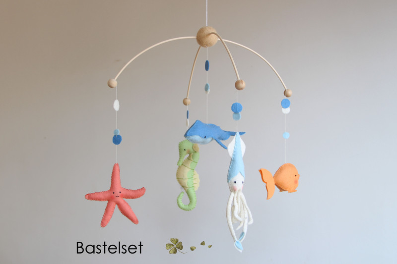 DIY Baby Mobile Kits  Mobiles – DIY sewing kit nautical baby mobile crib
