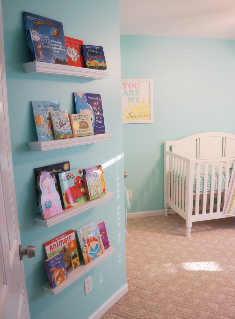 DIY Baby Nursery Projects  Sunshine and Stripes DIY Aqua Nursery Project Nursery