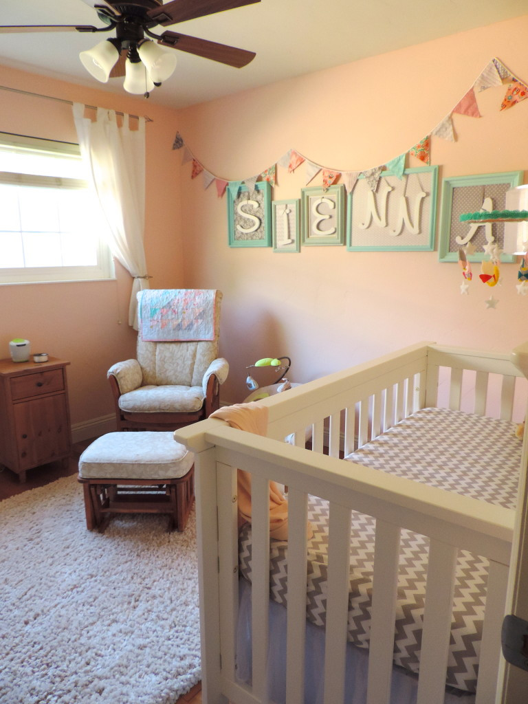 DIY Baby Nursery Projects  Our Baby Sienna s DIY Nursery Project Nursery