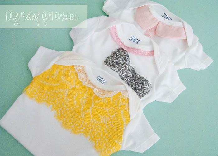DIY Baby Onesie Ideas  The Caldwells DIY Baby Girl esies